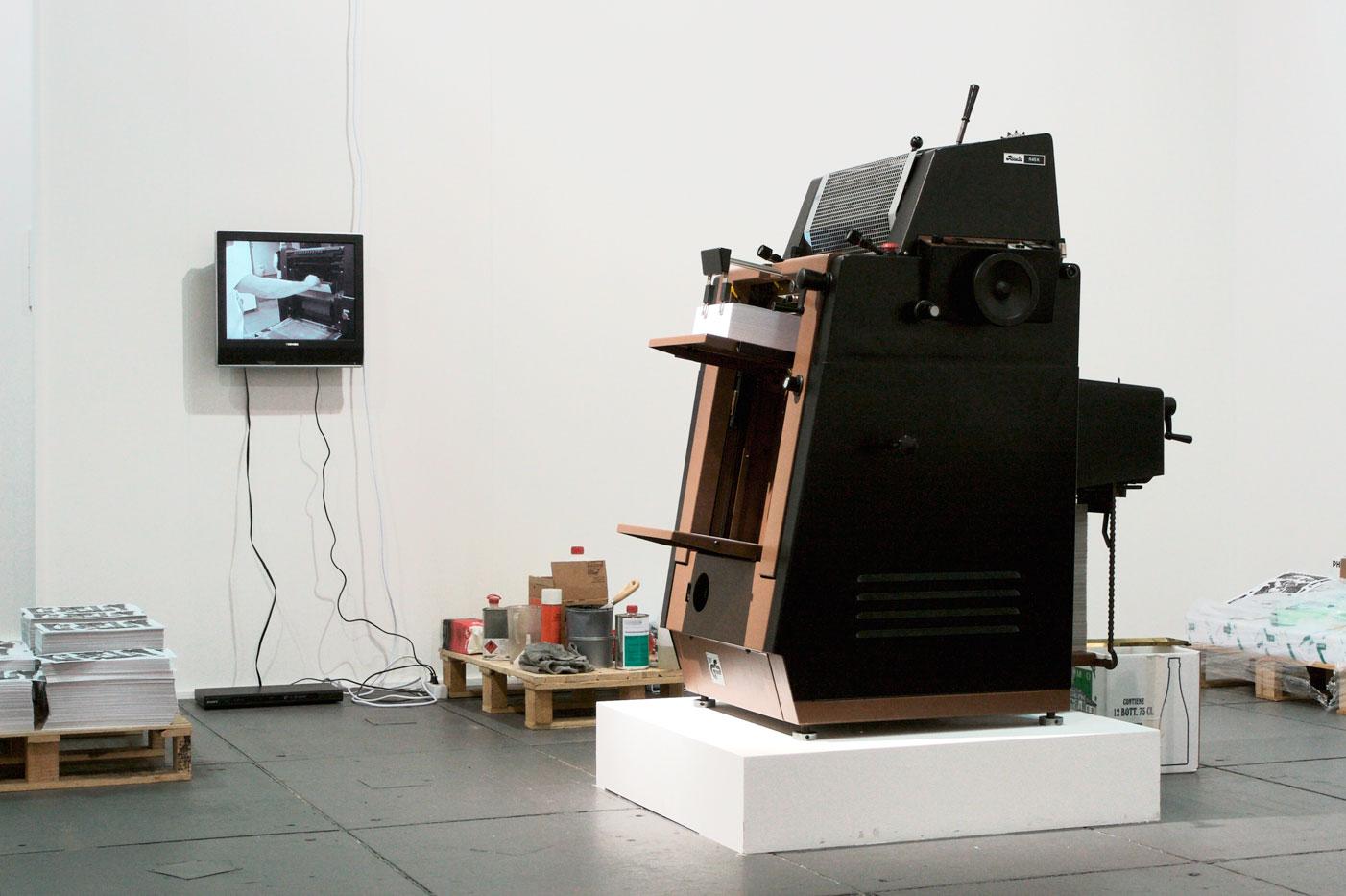 Les Schliesser – »R 45 X Rotaprint«, Installationsansicht, Artforum Berlin 2007