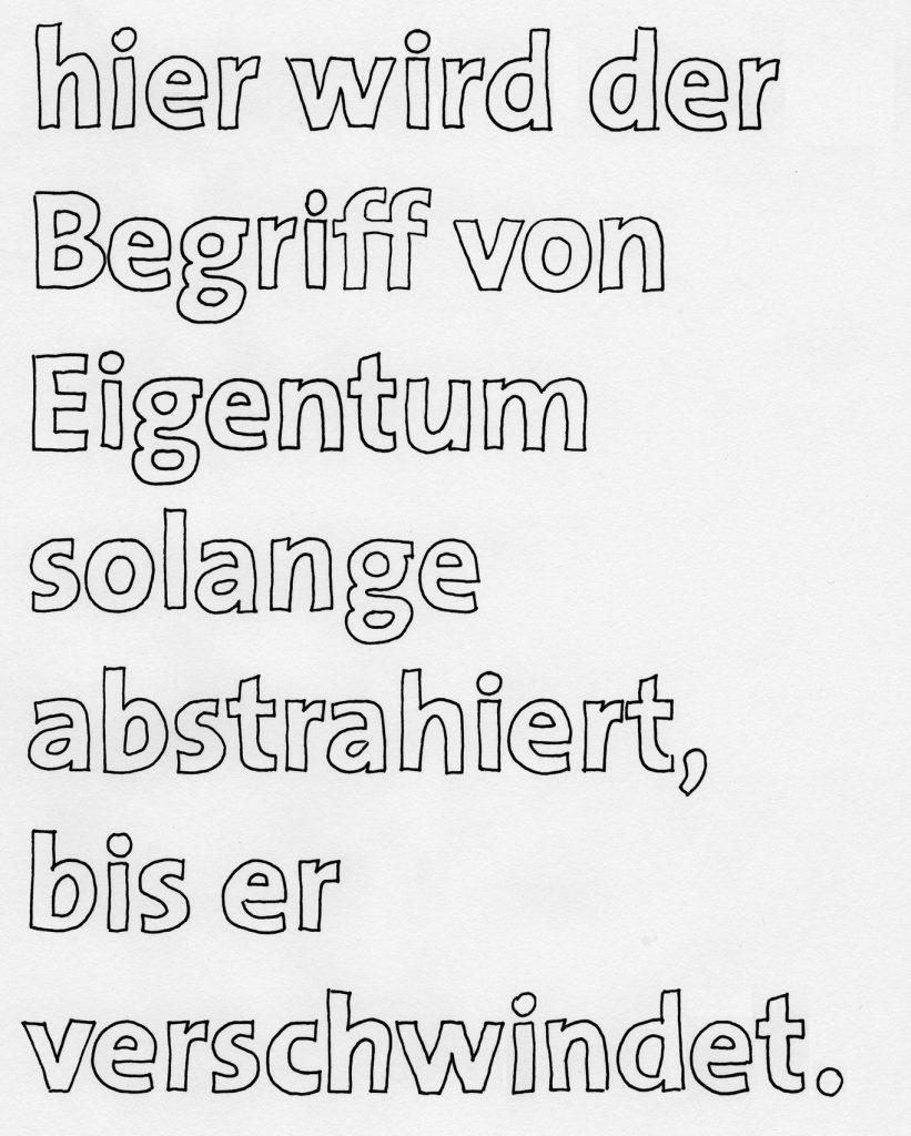 Les Schliesser – »Programmatik«, Zeichnung 2010