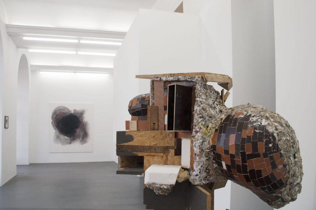 Les Schliesser – Installationsansicht mit »Sunday Painting 602« und »Potpourri CA (libeskindkohlhaasgehry)«