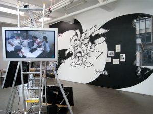 Les Schliesser, Daniela Brahm – »Our Place / ExRotaprint Berlin – Urban Activism as Artistic Practice«, Installationsansicht